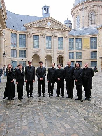 Ensemble Diabolus in musica, Prix Liliane Bettencourt pour le chant Choral 2012, Institut de France, 21 novembre 2012, Séance solennelle de l'Académie des beaux-arts
