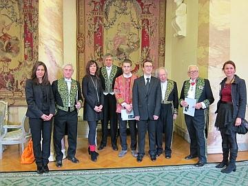 Prix Pierre Cardin, les lauréats et les membres du jury, Institut de France, 21 novembre 2012, Séance solennelle de l'Académie des beaux-arts