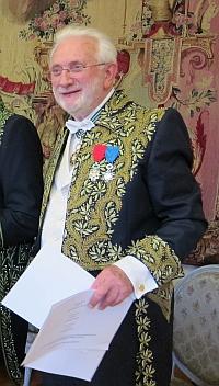 Le photographe Lucien Clergue, vice-président de l'Académie des beaux-arts pour l'année 2012, Institut de France, 21 novembre 2012, Séance solennelle de l'Académie des beaux-arts