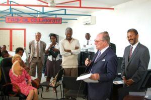Gabriel de Broglie, Chancelier de l'Institut de France, en visite solidaire et francophone dans les différentes bibliothèques d'Haïti
