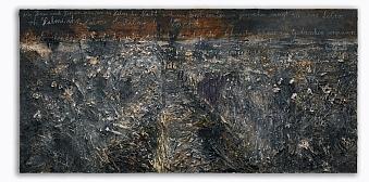 Aus Herzen und Hirnen sprießen die Halme der Nacht, 2011 Oil, emulsion, acrylic, shellac and chalk on canvas 280 x 570 x 7 cm