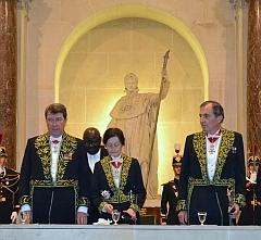 Xavier Darcos, Marianne Bastid-Bruguière et Bertrand Collomb
