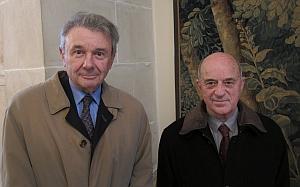 Jean-Paul Tillement et Michel Huguier, tous deux membres de l'Académie nationale de médecine