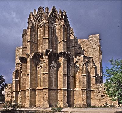 Cathédrale Saint-Nicolas, Chevet, Famagouste, Chypre, photographie:  Jean-Bernard de Vaivre (1998)