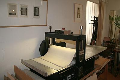 Presse électrique, atelier de gravure de Louis-René Berge de l'Académie des beaux-arts, 28 septembre 2012