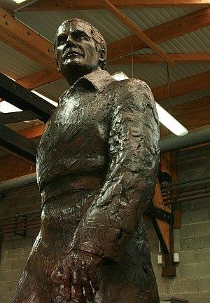 Jean Cardot, Jacques Chaban Delmas, bronze, 2012, Fonderie de Coubertin, 5 novembre 2012