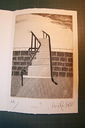 Louis-René Berge, carte de voeux 2012, gravure au burin, 28 septembre 2012