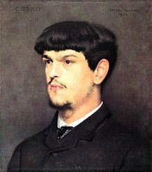 Portrait de Claude Debussy par Marcel Baschet (1884)