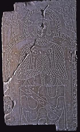 Dalle du chevalier Verny, conservée à Limassol, Chypre, photographie: Jean-Bernard de Vaivre