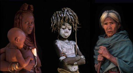 Sélections de portraits illustrant les trois âges de la vie.
