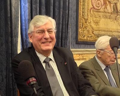Jean-François Dehecq, président d'honneur de Sanofi-Aventis, à l'Académie de ssciences morales et politiques, 11 février 2013