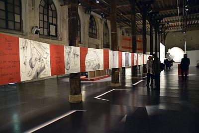 Exposition Trémois, Traits de passion, Réfectoire des Cordeliers, La Passion, 22 mètres de long, 90 cm de hauteur ,2013