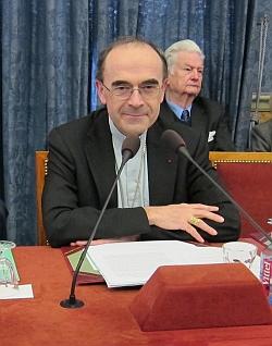 Cardinal Philippe Barbarin évêque de Lyon, 15 avril 2013, Académie des sciences morales et politiques