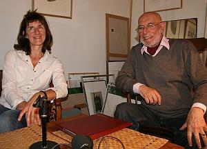 l'académicien Louis-René Berge, membre de l'Académie des beaux-arts et Catherine Gillet, artiste graveur, 28 septembre 2012