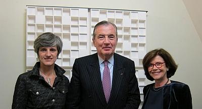 Marie-Bernard Delom, Bertrand Collomb, Annick-Renaud Coulon, (de gauche à droite), Canal Académie, janvier 2013