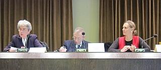 """Chantal Delsol, François Gros, Bérénice Tournafond, Colloque """" La conscience morale """", 24 mai 2013, Institut de France"""